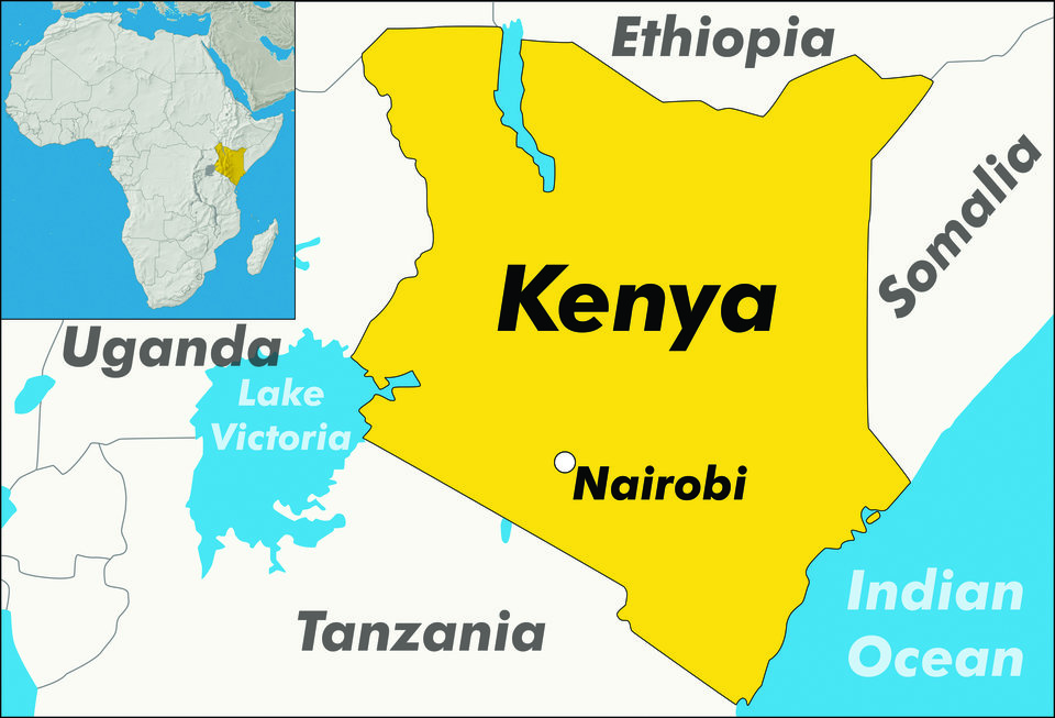A map of Kenya